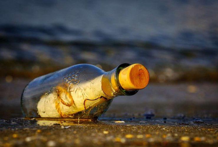 Message dans une bouteille à la mer