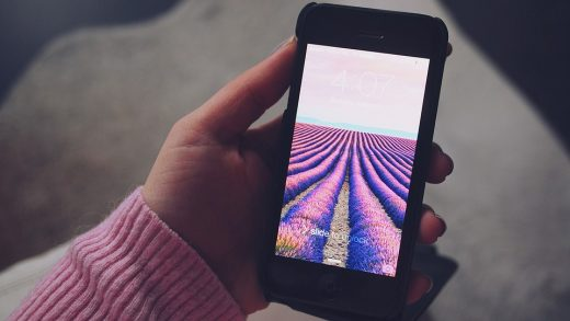 temps sur l'écran de smartphone