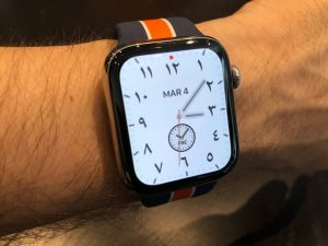Ecran caliifornia sur l'Apple Watch séries 5